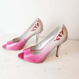 Bakers Pink Ombre Heels Size 8.5